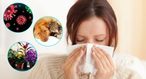 allergies cause swelling of the mucous membrane in woman, which contributes to the appearance of sinus cysts